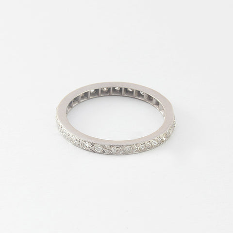 a secondhand platinum diamond set full eternity ring at marston barrett jewellers in lewes