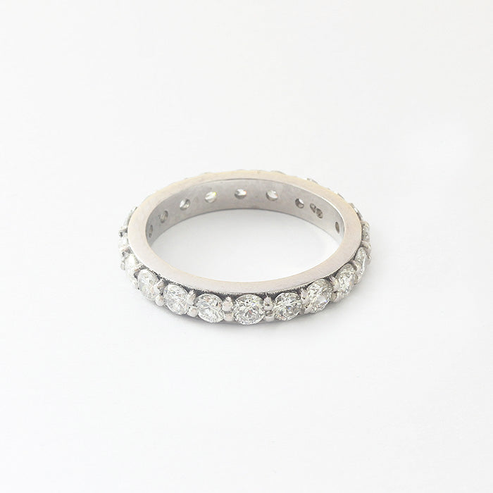 a secondhand white gold brilliant round cut diamond full eternity ring at marston barrett lewes