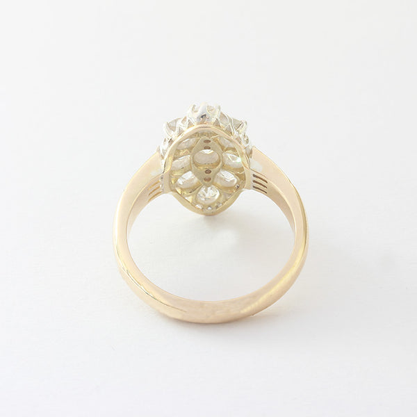 a stunning diamond cluster marquise shaped ring yellow gold victorian