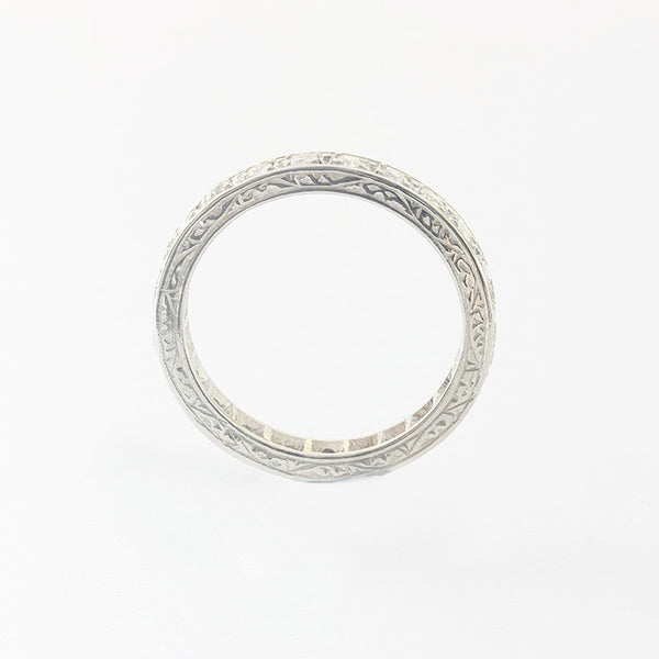 a preowned eternity ring with diamonds