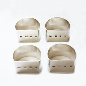 a set of secondhand vintage silver napkin rings