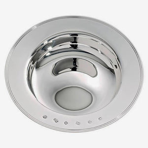 a sterling silver armada dish with a full hallmark round the edge and a grooved finish edge