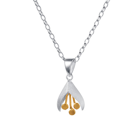 a silver gold plated snowdrop pendant necklace christin ranger