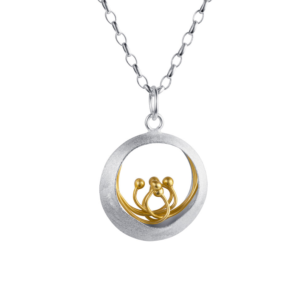silver gold plated little water feature necklace by christin ranger