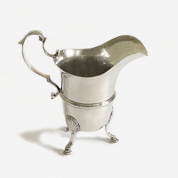 a superb silver antique georgian cream jug made in dublin and dated 1777