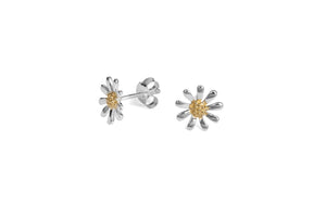 Silver Daisy Stud Earrings - 10mm