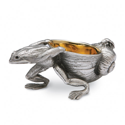 Sterling Silver Frog & Snail Open Salt