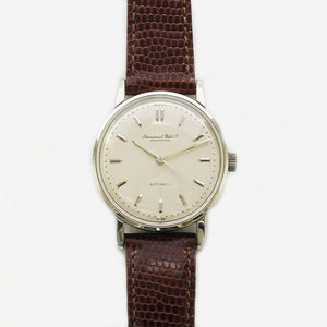 a vintage IWC mens wrist watch with leather strap