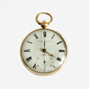 a secondhand gold open face pocket watch dated 1831