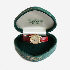a beautiful vintage ladies rolex watch with original box and papers