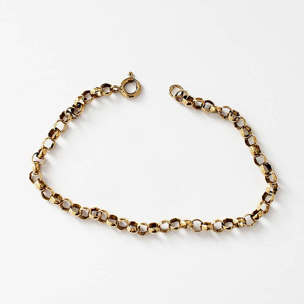 a fine quality secondhand oval belcher link yellow gold bracelet