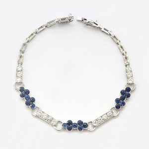 a beautiful sapphire and diamond platinum bracelet