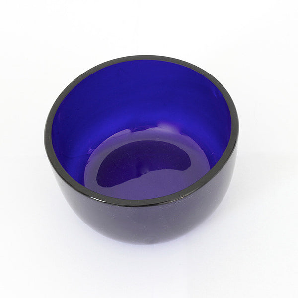 blue glass liner for silver basket