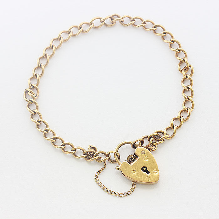 a classic curb link small charm bracelet
