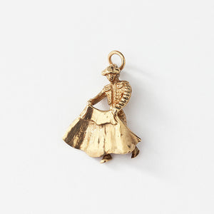 a yellow gold bullfighter charm with a full hallmark secondhand item