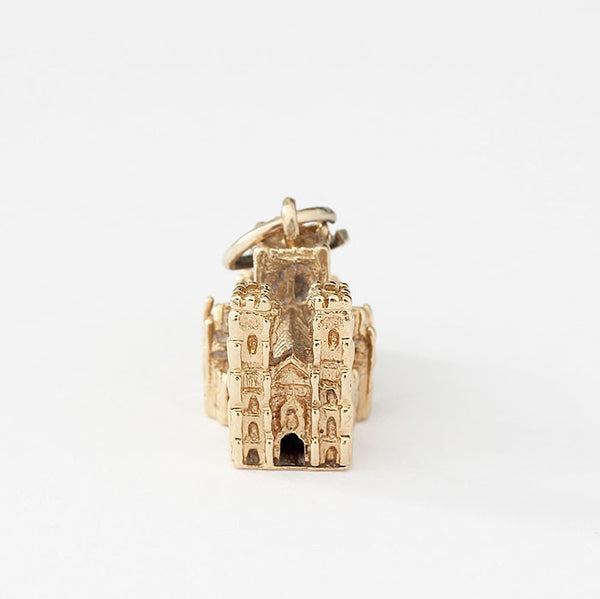 9ct gold cathedral charm fine detail