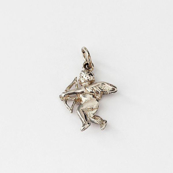 sterling silver cherub design charm with traditional fitting