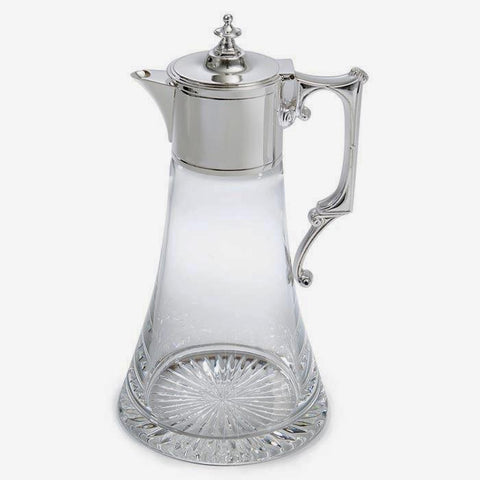 Sterling Silver And Glass Claret Jug