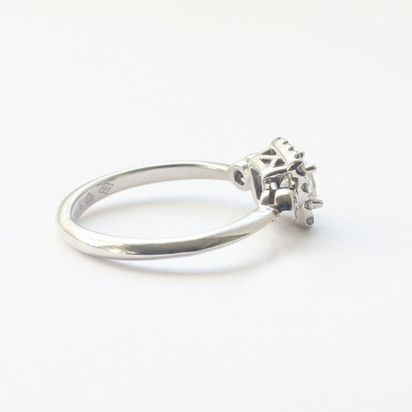 a white gold secondhand cluster diamond set ring