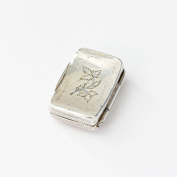silver vinaigrette with flower pattern dated 1820
