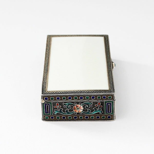 a secondhand antique silver and enamel small trinket box with gilt inside