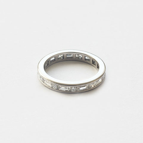 a preowned diamond set full eternity ring in platinum