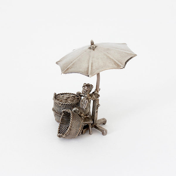silver umbrella with angel underneath ornament 1902