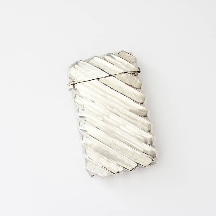 a victorian sterling silver cigarette case with a fluted pattern hallmarked for birmingham 1888