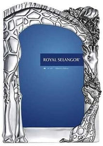 a pewter giraffe design photo frame portrait by Royal Selangor