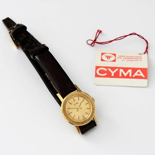 CYMA Ladies Wrist Watch With a Gold Dial - Secondhand