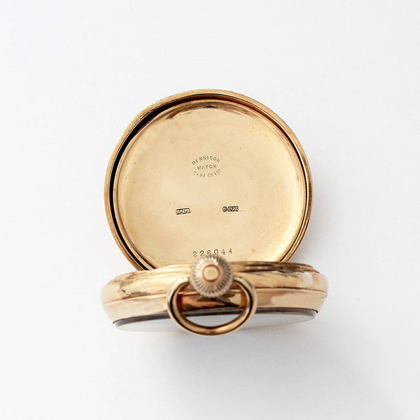 a secondhand 9ct gold open face pocket watch with 17 jewel movement and dated 1921