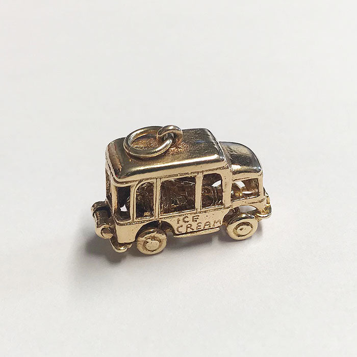 a vintage ice cream gold charm which opens up