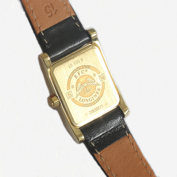 a secondhand gold ladies longines wrist watch