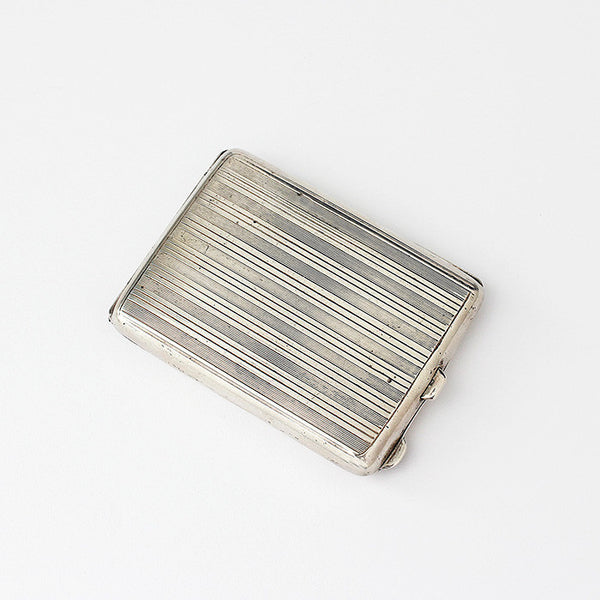 silver vesta case dated 1921 hallmarked with the original matches inside