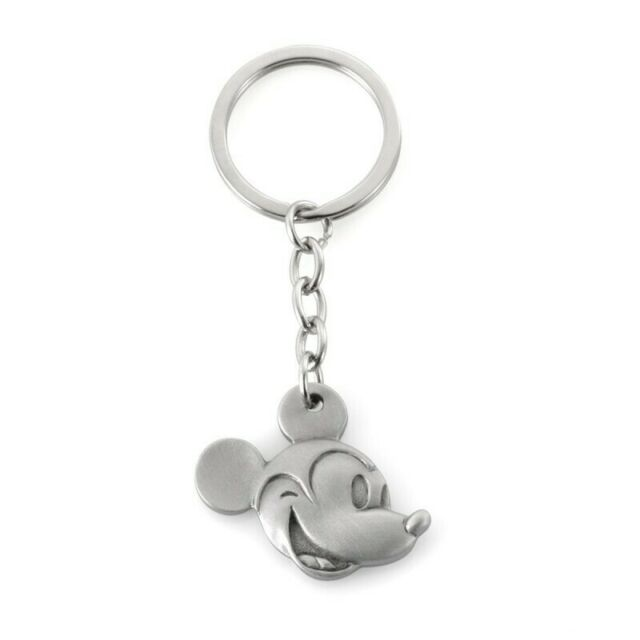 Pewter Mickey Mouse Portrait Keyring by Royal Selangor