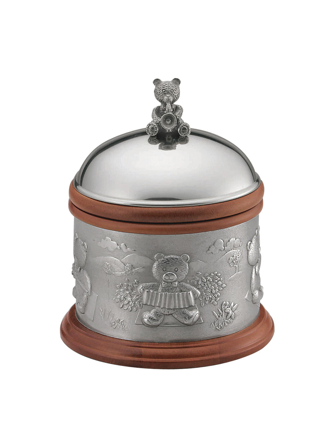 Pewter Teddy Bears' Picnic Music Box by Royal Selangor