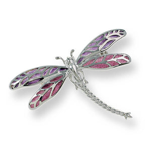 enamel and silver dragonfly brooch by nicole barr