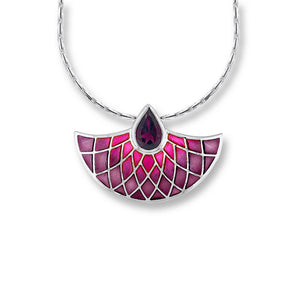 enamel rhodolite and silver pendant necklace by nicole barr