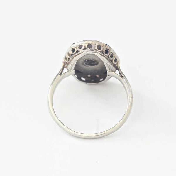 Art Deco Onyx and Diamond Dress Ring - Secondhand