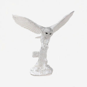 sterling silver owl ornament sculpture very detailed hallmarked