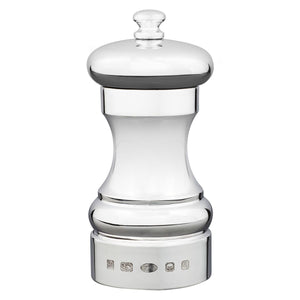 Sterling Silver Capstan Peppermill - 4 inch