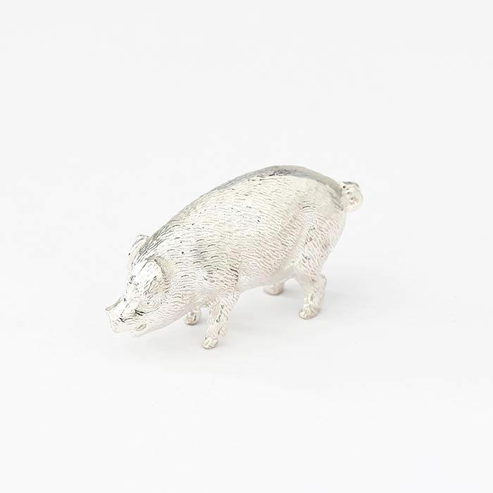 a standing pig solid silver ornament with full british hallmark