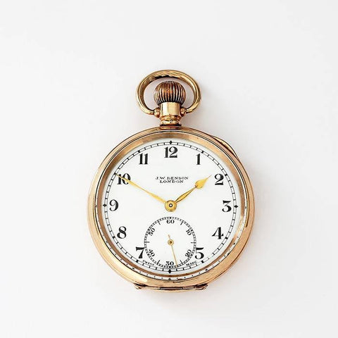 a secondhand rolled gold open faced pocket watch by j w benson with swiss movement