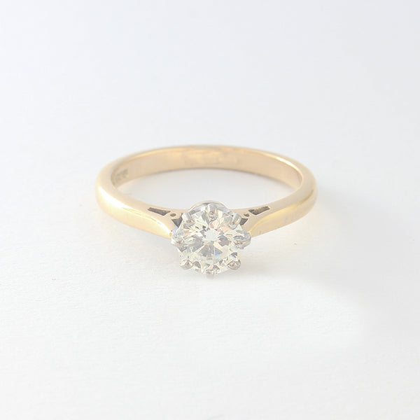 a claw set diamond single stone engagement ring