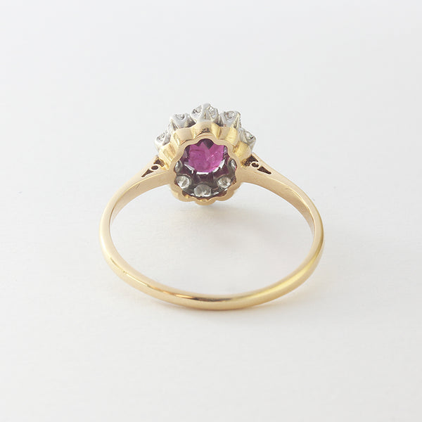 ruby and diamond cluster ring at marston barrett in lewes sussex