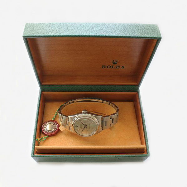 a superb secondhand vintage mens rolex watch with box