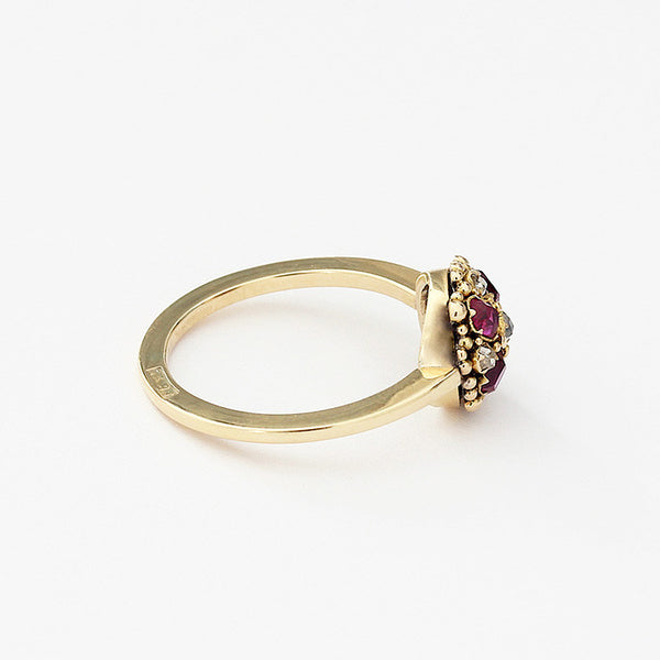 gold ruby and diamond ring secondhand at marston barrett lewes