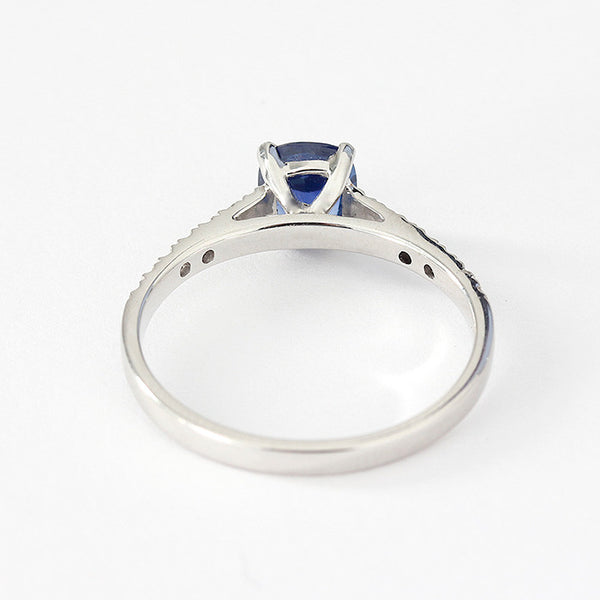 white gold sapphire and diamond ring modern design