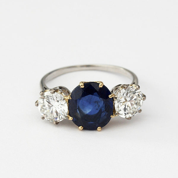 sapphire and diamond ring from marston barrett lewes
