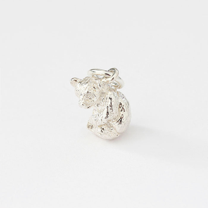 silver panda charm with detailing